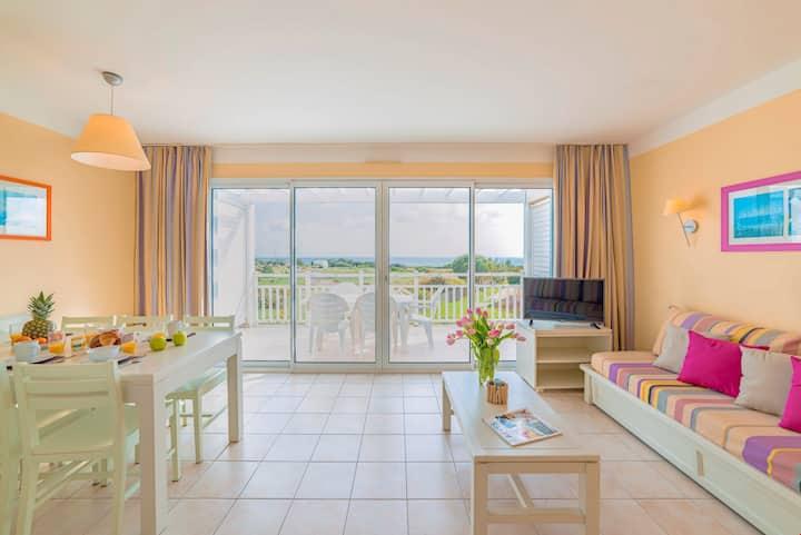Appartement pour 6 avec Vue Mer | Accès piscine + plage !