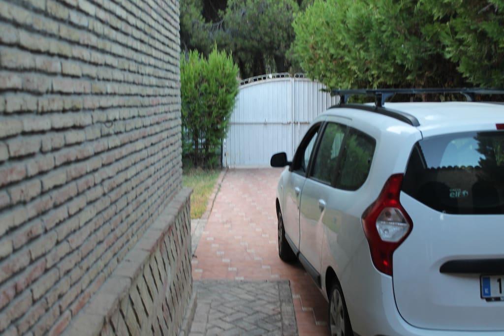 Entrada de vehiculos