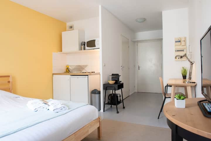 LUMINOUS AND FUNCTIONAL STUDIO FOR 2 PEOPLE IN LILLE (320)