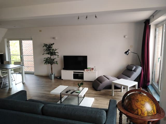 Bright and large apartment near city center