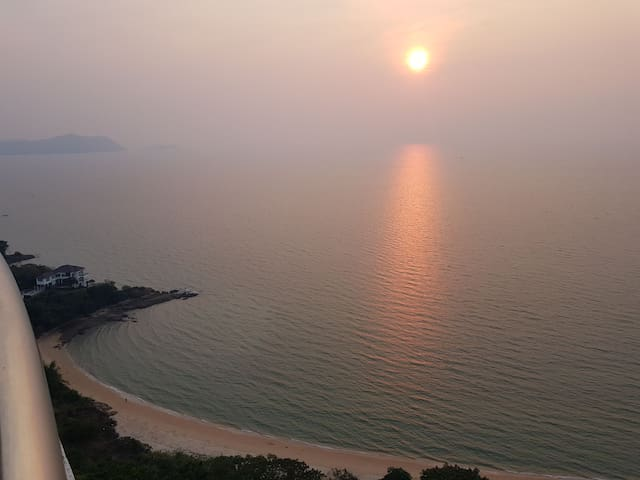 """sunset view from main balcony..stunning as it is named """"Sunset beach"""""""