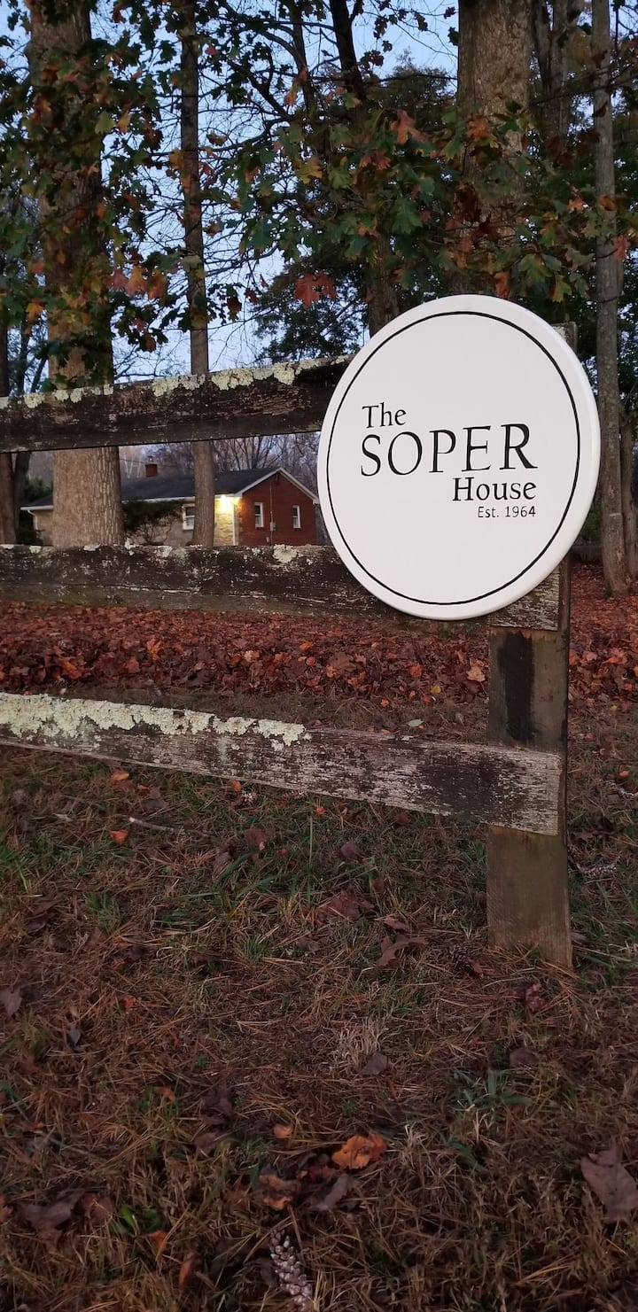 The Soper House-A Quaint & Lovely Country Getaway