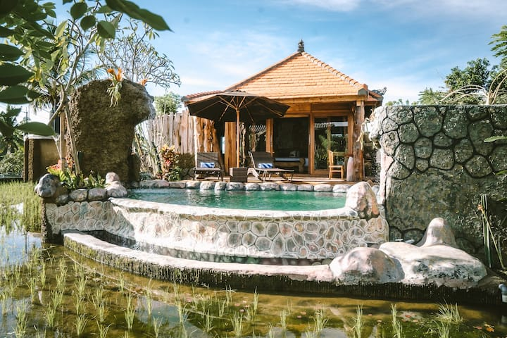 1BR Villa w/ Private Pool Surrounded By Rice Field