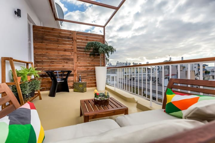37m²Renovated Penthouse/22m²Balcony - Αθήνα  - Departamento