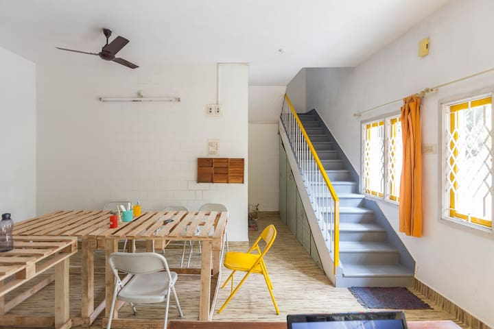 Comfy Dorm@ Arts & Design led Co-living house - Bangalore
