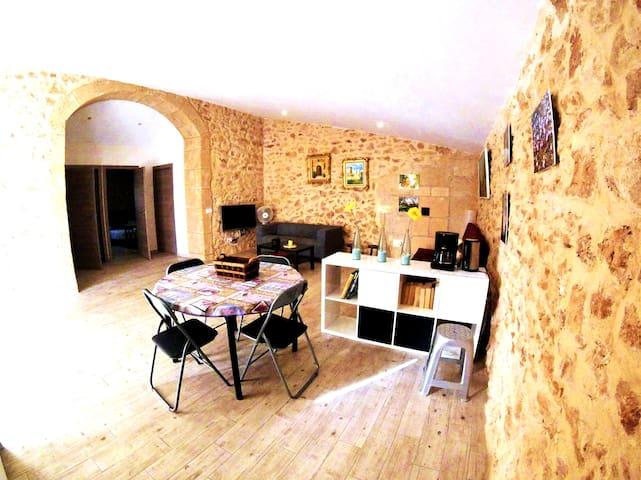 Upper space living room