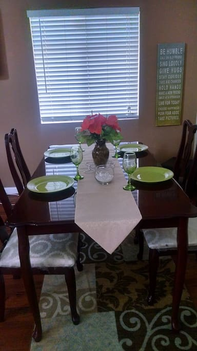 Formal dining as requested.