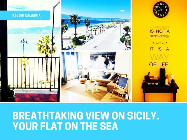 Seafront, breathtaking view on Sicily