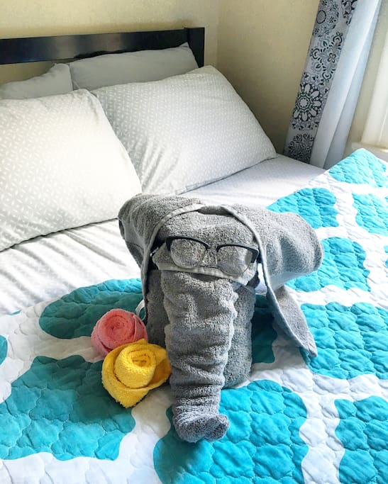 If Sophie is in a good mood, she will make you an elephant!!!!!