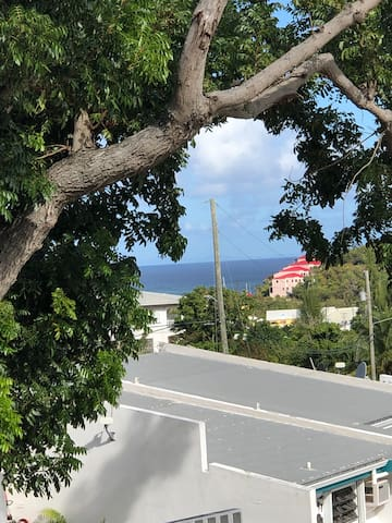 Caribbean water view to the left