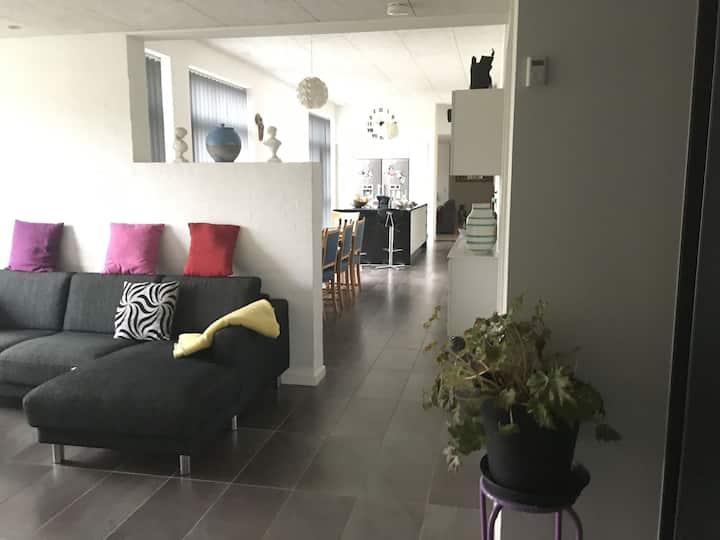 Nymoderne hus med skønne omgivelser