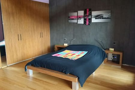 Wooden house near Europa park, 25m2 room - Casa