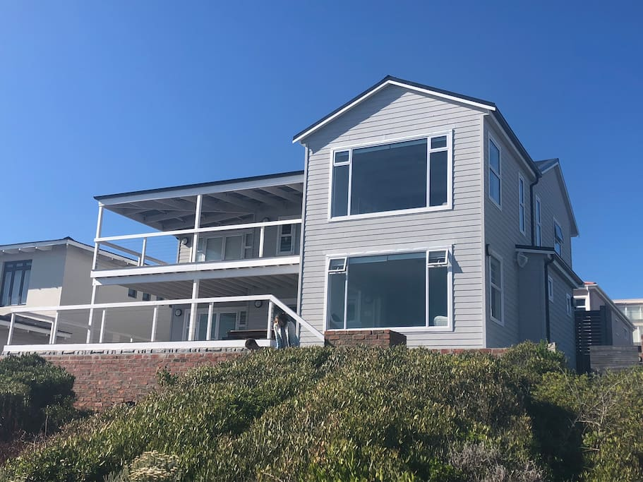 Sea facing view of house