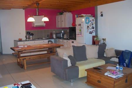 Charmant appartement avec jardin privé - Saint-Albin-de-Vaulserre - Leilighet