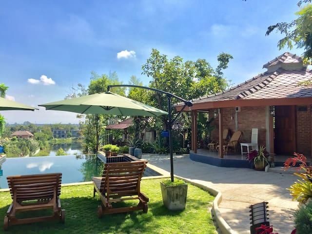 清迈夜间动物园 皇家花园 Pool Villa池景独栋套房 网红天空之镜无边泳池度假村 免费接机