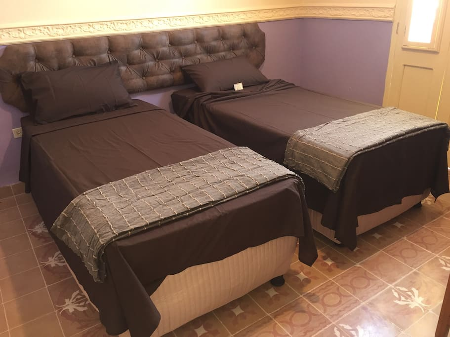 Beds can be placed apart as two large singles