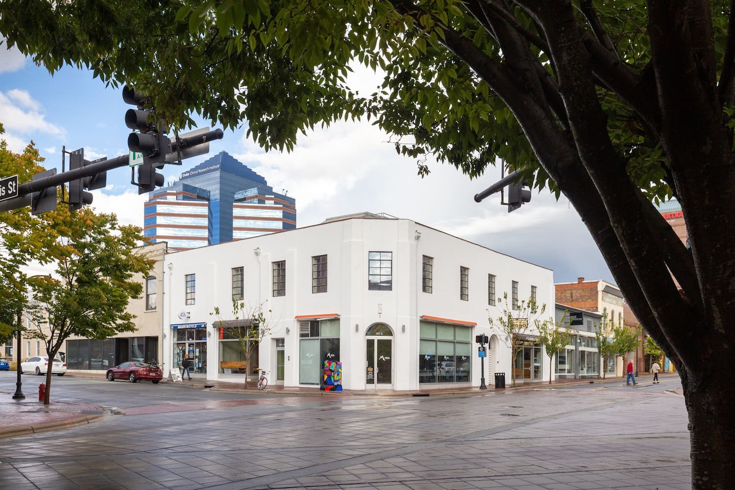 Our private condo is located right in the heart of downtown on the second floor of this building :) come experience all that Durham has to offer and have incredible restaurants, bars and coffee shops just steps away. We can't wait to host you!