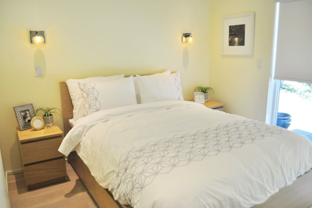 Hotel quality mattresses mean you will sleep comfortably during your stay