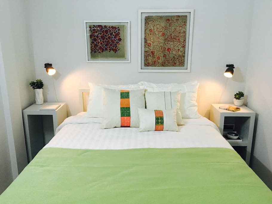 The Kandal 1st floor Bedroom with high ceilings and over 25 sqm of space.