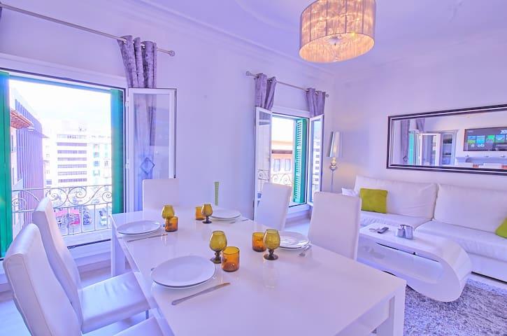 Luxury 3 bedr. apartment in Palma! Plaza Olivar - Palma - Apartment