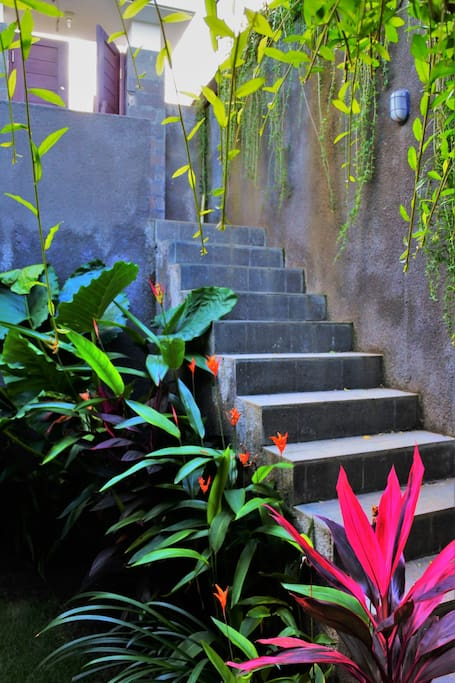 Main stairs to the Villa.