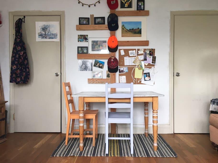 Laptop hangout or quick breakfast spot in your room :)