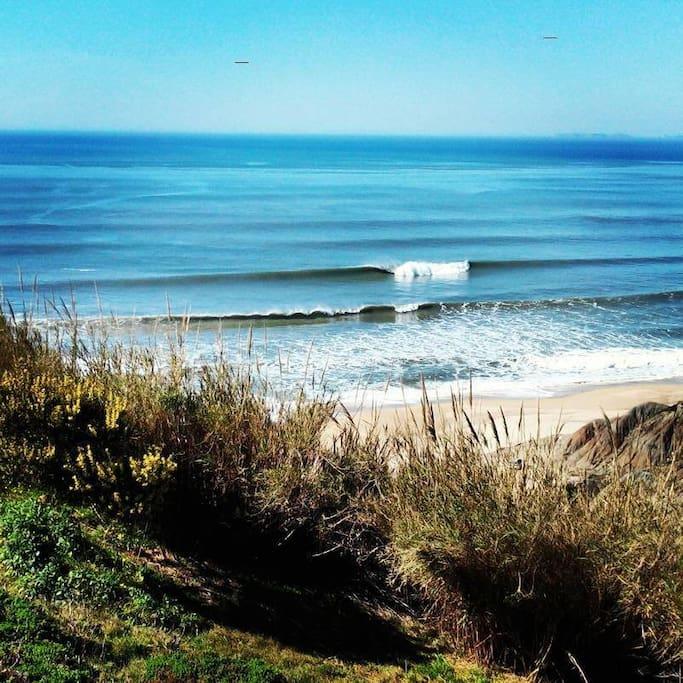 Vista para a praia ...