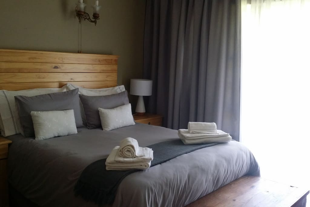 Bedroom 1 decorated in beautiful. shades of grey