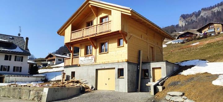 Studio dans chalet au cœur du Val d'Arly