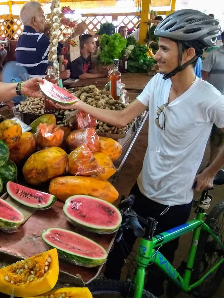 Visit a local food market