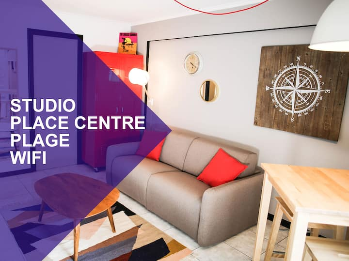 STUDIO ON PLACE CENTER, 100M FROM THE BEACH