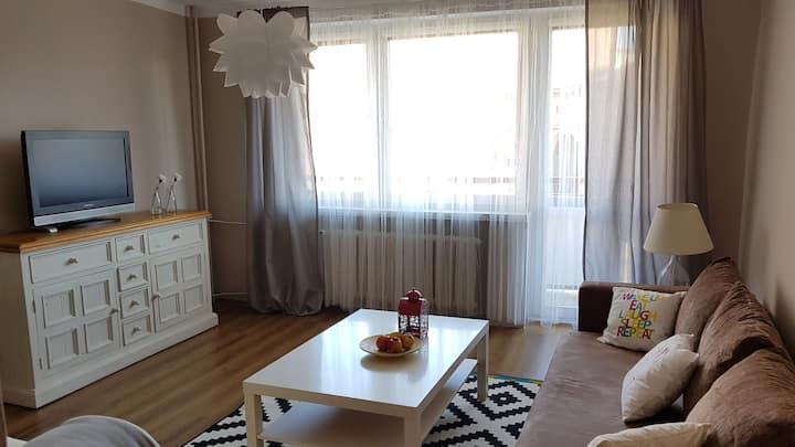 Przytulne mieszkanie przy ParkuRòż Stadion Śląski