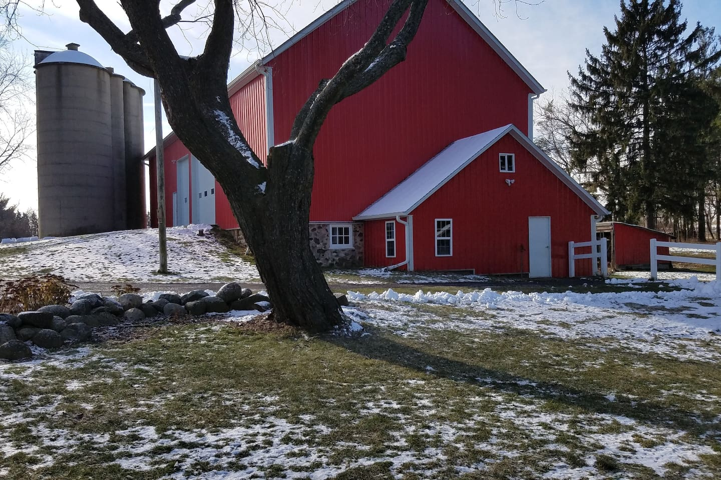 You will know you have arrived when you see our bright red barn....Welcome