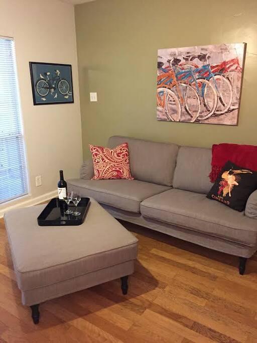 Comfortable open living room.
