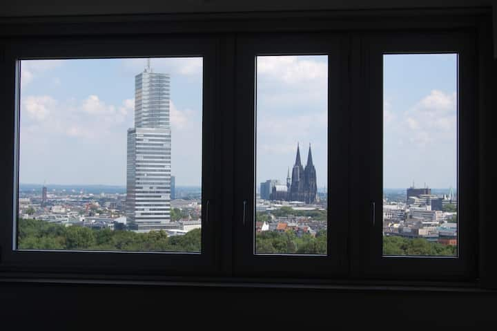 Apartment mit Panoramablick und Poolbenutzung