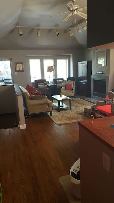 "Open concept Living and Dinning.  40"" TV with Basic Cable, Wifi"