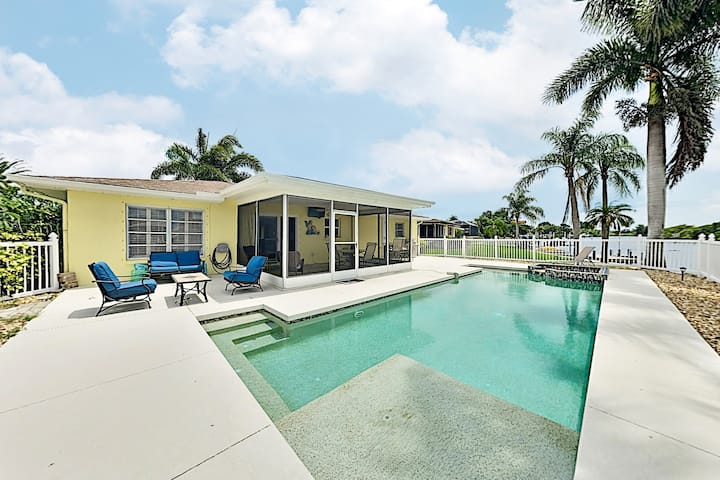 Canal-Front Getaway w/ Pool - Minutes to Beach!