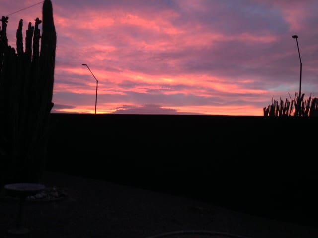 Beautiful Arizona Sunrise from the backyard!
