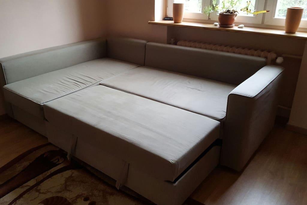 rozkładana duża kanapa narożna