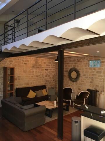 Charmant loft 80 m2 en plein centre- ville - Fontenay-aux-Roses - Loft