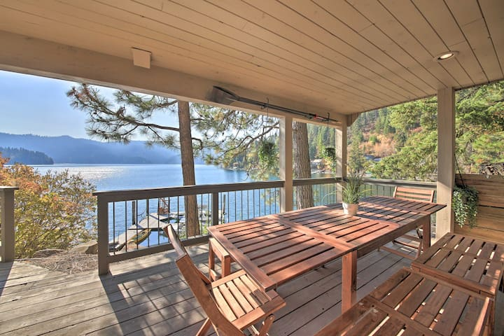NEW! Waterfront Hayden Lake Studio w/Beach Access!