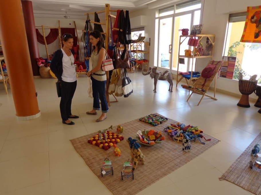 espace Maam samba boutique de souvenir
