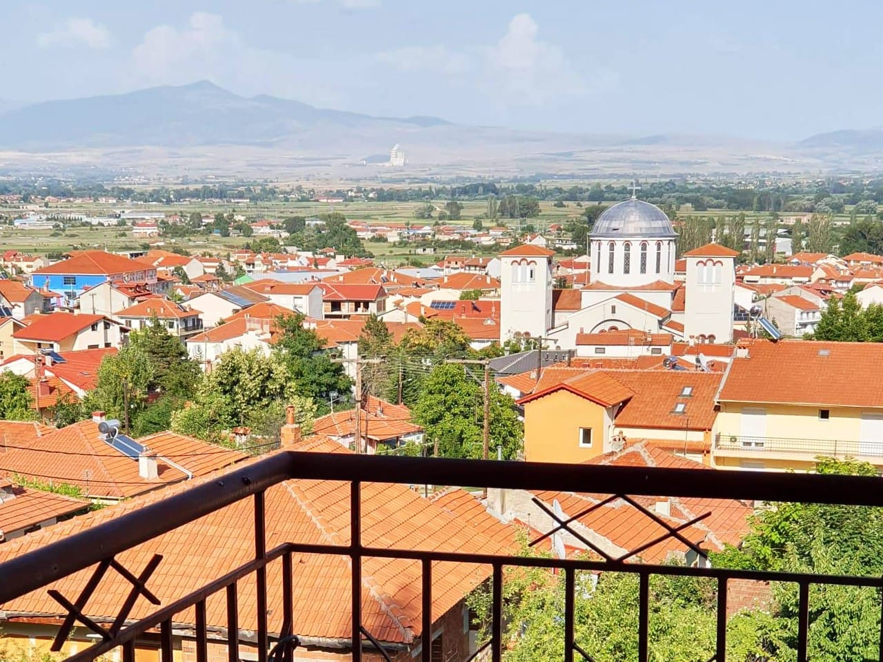 Florina city view from the balcony