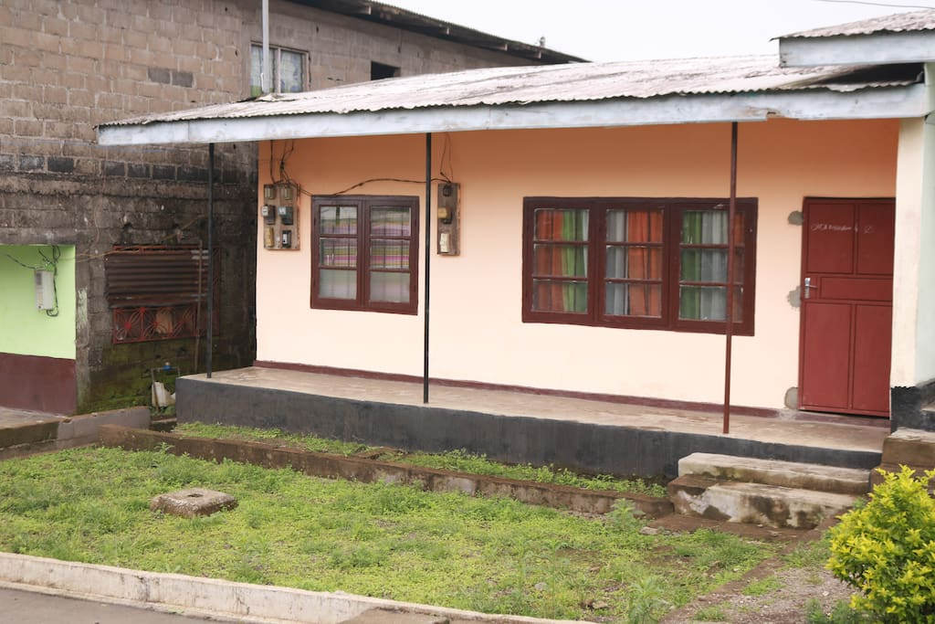 the front site of the house