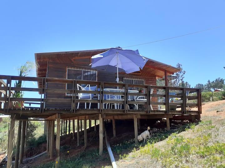 Cabaña equipada para 6 personas, Laguna Verde