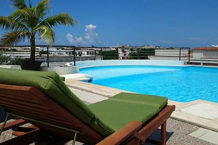 Luxury Apartment 3 blocks frm 5th Av balcony +roof - Playa del Carmen