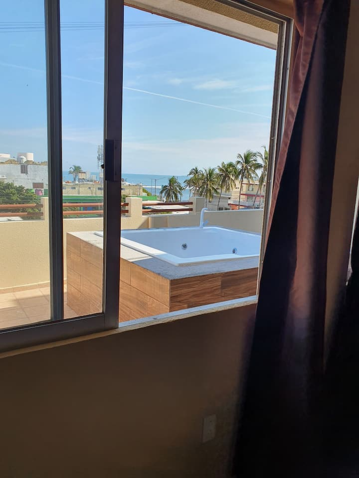 SUITE CON JACUZZI PRIVADO CON VISTA AL MAR