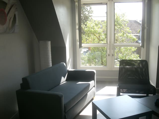 appartement 2 rooms up to 4 pers. central & calme.