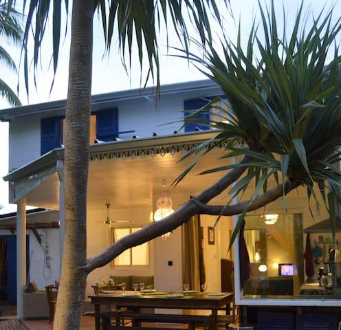 Maison créole de charme/rénovée/80m lagon Ermitage