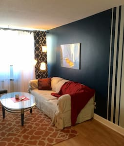 "Downtown ""Blue Nest"" apartment - Stamford"